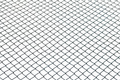 Wired fence on white background Stock Images