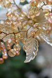 Wired Glass Bead and Leaf Embellishment Stock Image