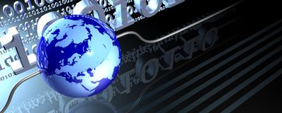 Wired globe banner Stock Image