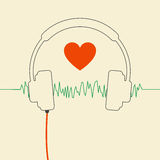 Wired headphones Royalty Free Stock Images