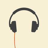 Wired headphones Royalty Free Stock Photos
