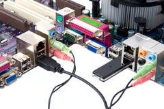 Wired Media Hardware Stock Image