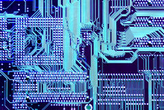 Wired Mother board Royalty Free Stock Image