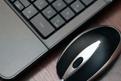 Wired mouse and keyboard Royalty Free Stock Photo