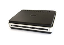Wired network broadband router Stock Photos