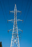 Wired pole Royalty Free Stock Photo