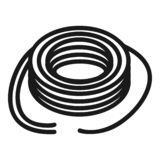 Wired power cable icon, simple style royalty free illustration