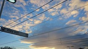 Wired sky Royalty Free Stock Photos