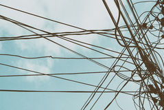 Wired sky g Stock Photo