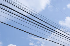 Wired sky g Royalty Free Stock Photography