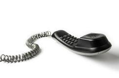 Wired telephone. Against white background royalty free stock photography