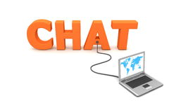 Wired To Chat Royalty Free Stock Photo