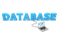 Wired To Database Stock Image