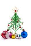 Wirefir do bauble do Natal e do Natal Imagem de Stock