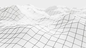 Wireframe滤网表面3d 皇族释放例证