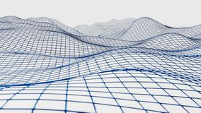 Wireframe滤网表面3d 向量例证