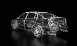 wireframe автомобиля Стоковые Фото