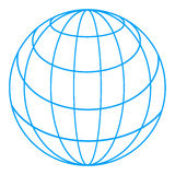 wireframe глобуса иллюстрация вектора