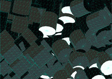 wireframe цилиндра состава Стоковые Фото