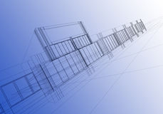 Wireframe abstract Stock Photo