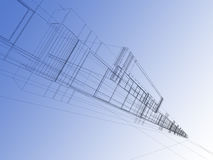 Wireframe abstract Royalty Free Stock Image