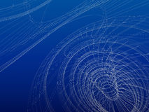 Wireframe abstract architecture Royalty Free Stock Photo