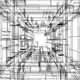 Wireframe abstracto ilustración del vector
