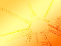 Wireframe abstrait de couleur illustration stock