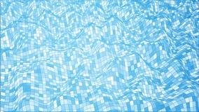 Wireframe abstrakta błękitna fala zdjęcie royalty free