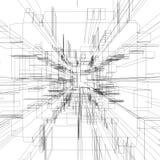 Wireframe astratto Fotografie Stock Libere da Diritti