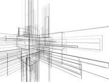 Wireframe astratto su priorità bassa bianca Fotografia Stock