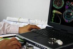 Wireframe Baumuster des Vorratsbehälters Lizenzfreie Stockfotos
