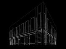 Wireframe byggnad Arkivfoton