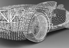 Wireframe car Stock Image