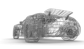 Wireframe car Stock Images