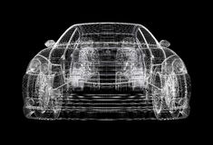 Wireframe car Stock Photo