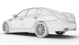Wireframe car Stock Photography