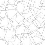 Wireframe 3D blocks in a seamless pattern Royalty Free Stock Photography