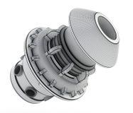 wireframe 3D industrielles Produkt-Design Abbildung 3D Stockfoto