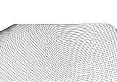 Wireframe 3D krajobrazu g?ry Futurystyczna 3D kartografia Wireframe krajobrazu drut Cyberprzestrzeni siatka obraz stock