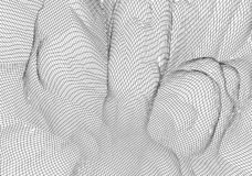 Wireframe 3D landskapberg Futuristisk kartografi 3D Wireframe landskaptr?d Cyberspaceraster vektor illustrationer