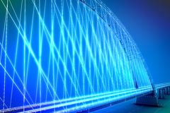 Wireframe 3d  render of a bridge Royalty Free Stock Photography