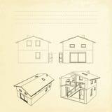 Wireframe da construção. ilustração do vetor