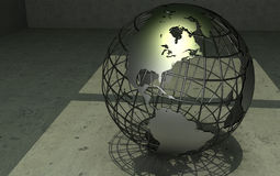 wireframe de globe illustration stock