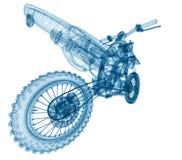 Wireframe de la bici stock de ilustración