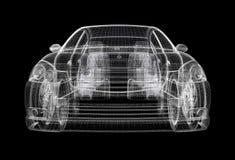 wireframe de véhicule Photo stock