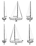 Wireframe design of boat Royalty Free Stock Photos
