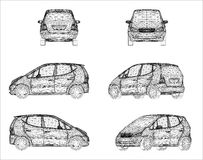 Wireframe design of car Stock Photography