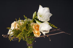 Wireframe designer floristic bouquet. Stock Photography