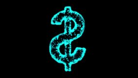Wireframe do sinal de dólar ilustração stock